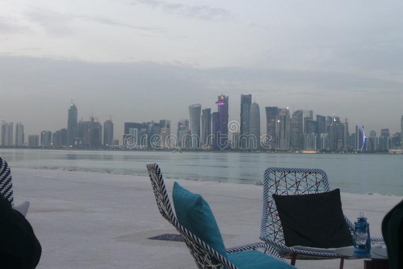 Vacances au Qatar photo libre de droits