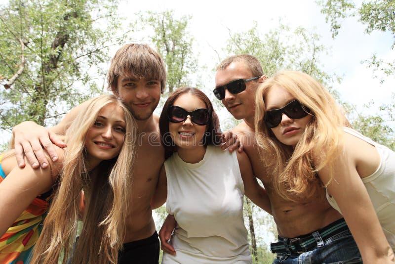 Vacances avec des amis photos libres de droits