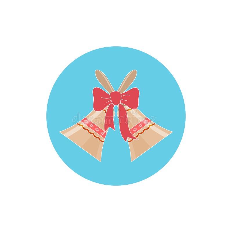 Vacances colorées Jingle Bells d'icône illustration stock