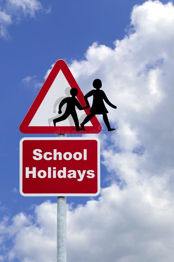 Vacances d'école image stock