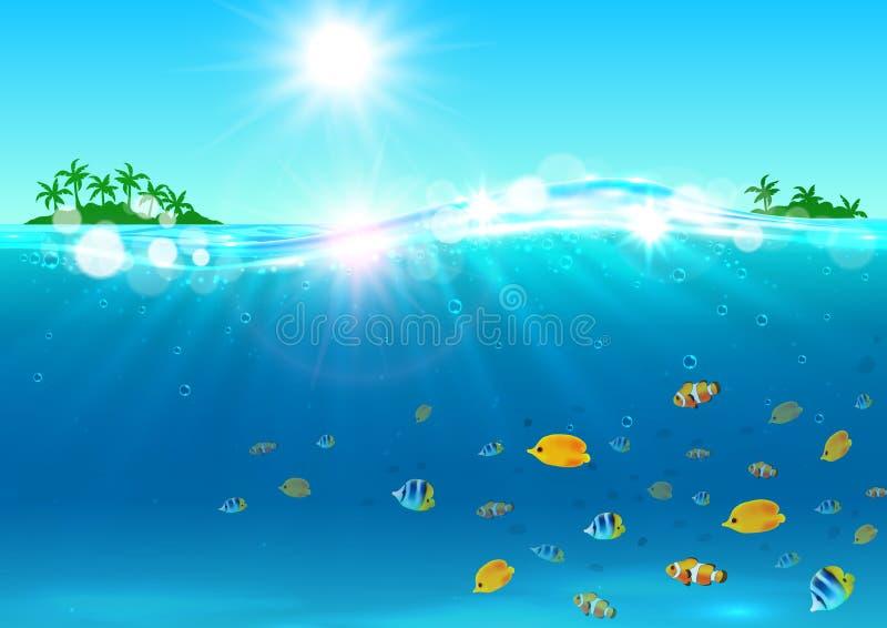 Vacances d'été Île tropicale d'océan illustration libre de droits