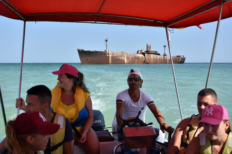 Vacances d'été chez la Mer Noire, station de vacances Costinesti, Roumanie photo stock