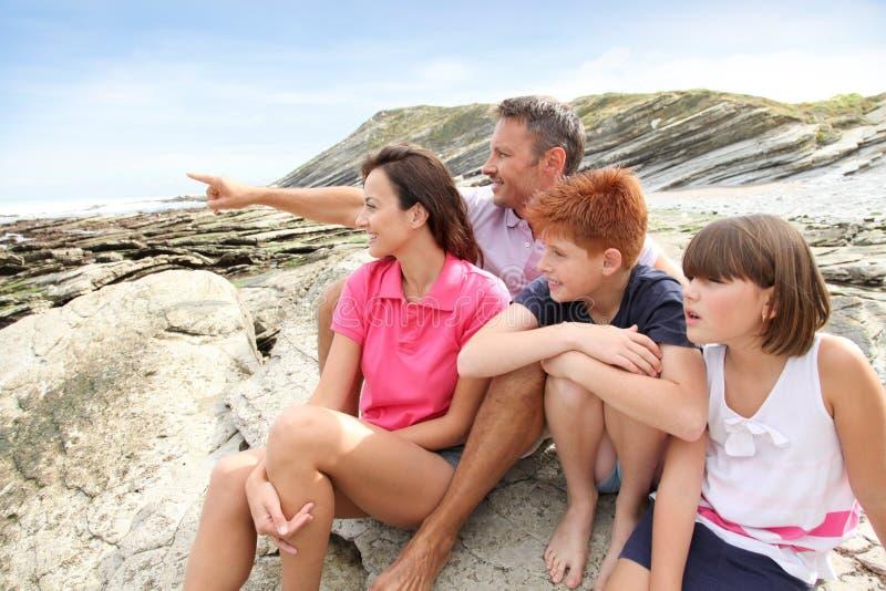 Vacances d'été de famille image libre de droits