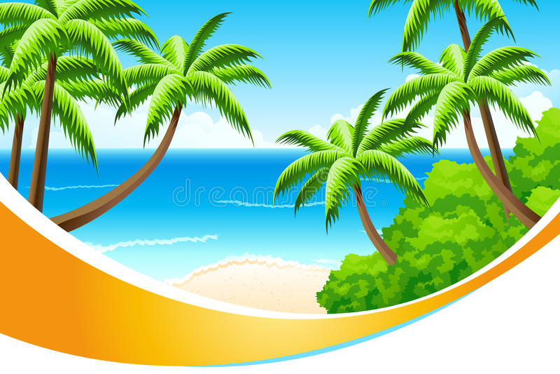 Vacances d'été de fond illustration libre de droits