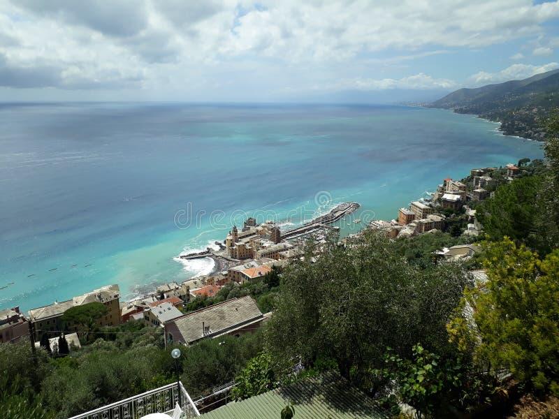 Vacances d'été de la mer Méditerranée de Portofino la Riviera Italie photos stock