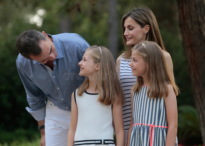 Vacances d'été de royals de l'Espagne 028 photographie stock