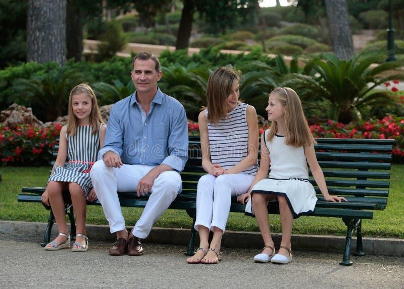 Vacances d'été de royals de l'Espagne 035 photo stock