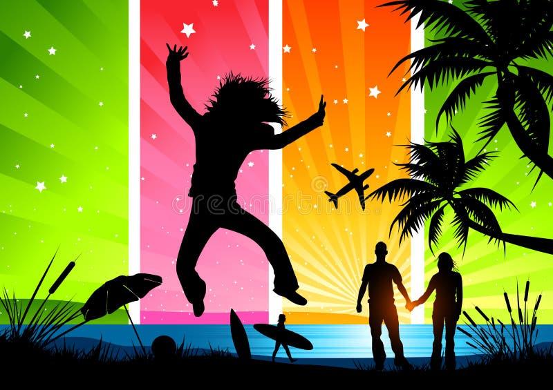 Vacances d'été heureuses ! illustration stock