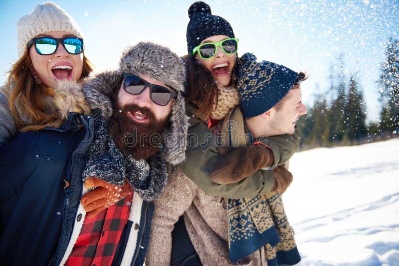 Vacances d'hiver image stock
