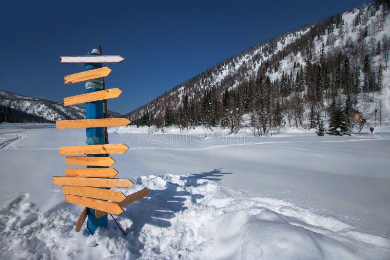 Vacances d'hiver dans les montagnes photographie stock libre de droits