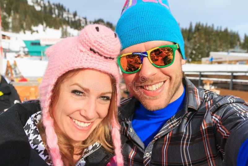 Vacances d'hiver de portrait de soleil photo stock