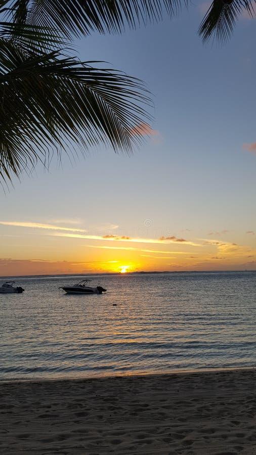 Vacances d'océan d'île de Mauritius Maurice de pierres photos stock