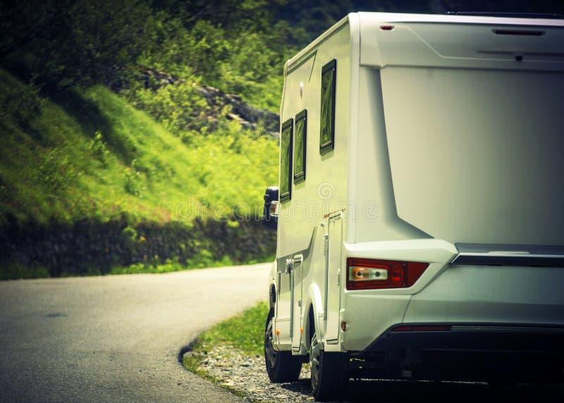 Vacances de camping de campeur image stock