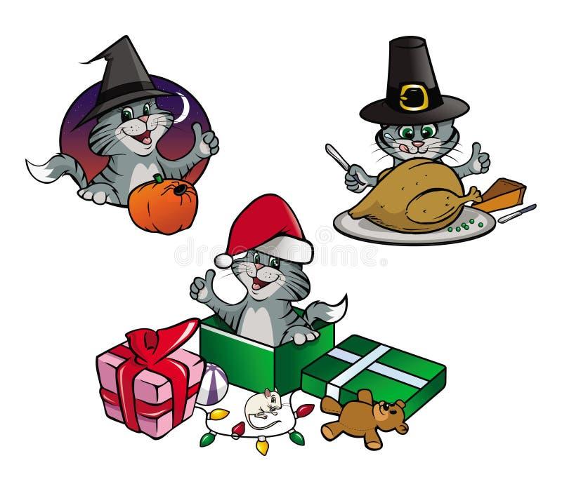 Vacances de chaton illustration stock