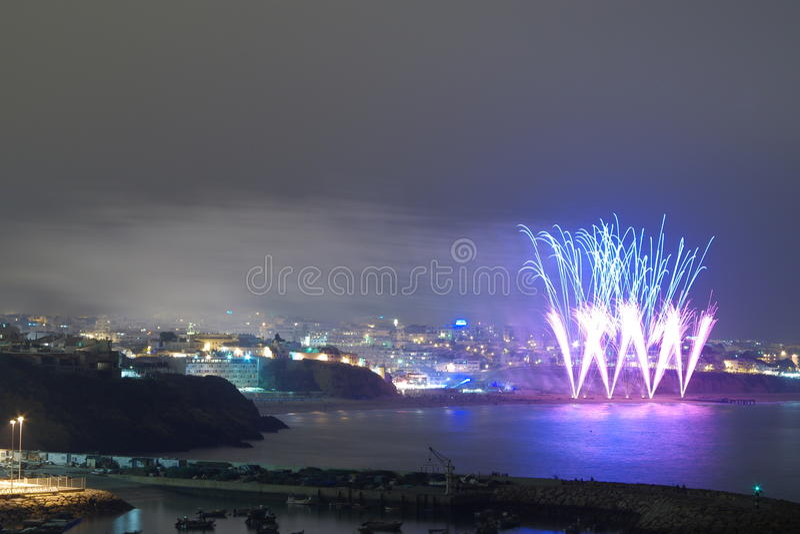 Vacances de la ville d'Albufeira images libres de droits