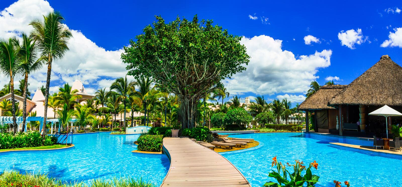 Vacances de luxe dans le paradis tropical - île des Îles Maurice image libre de droits