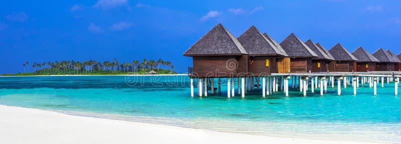Vacances de luxe des Maldives photo libre de droits