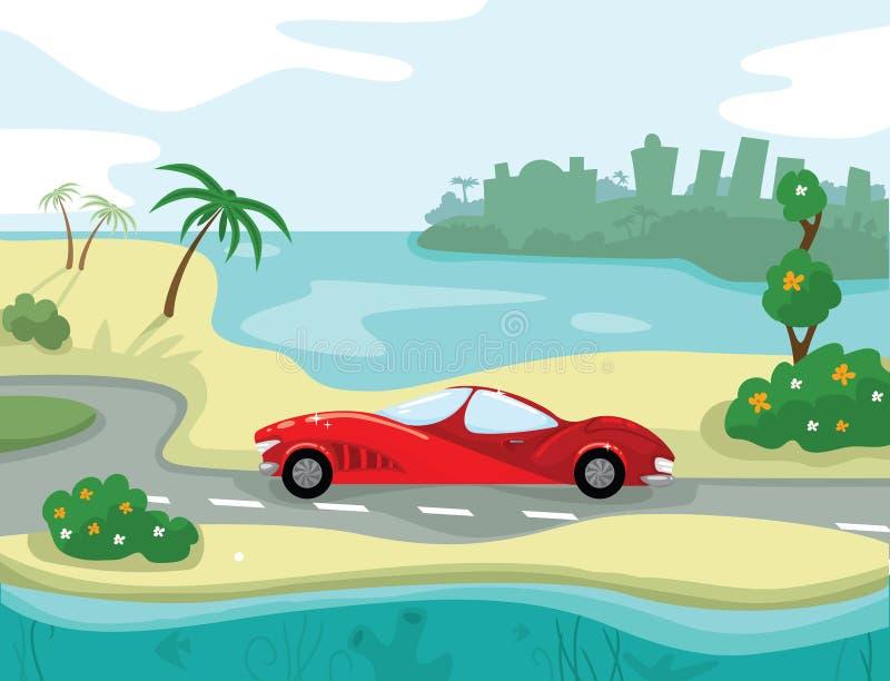 Vacances de mer illustration de vecteur