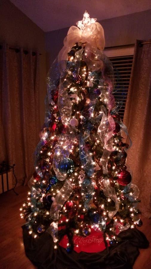 Vacances de Noël d'arbre de Noël photographie stock