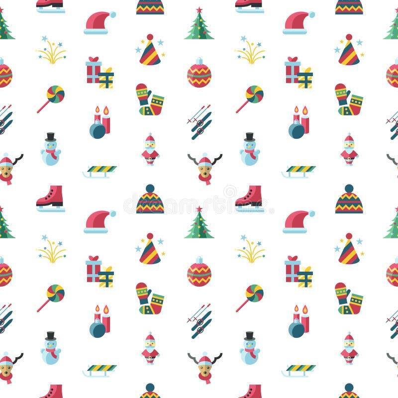 Vacances de Noël de vecteur de Digital et de nouvelle année réglées illustration libre de droits