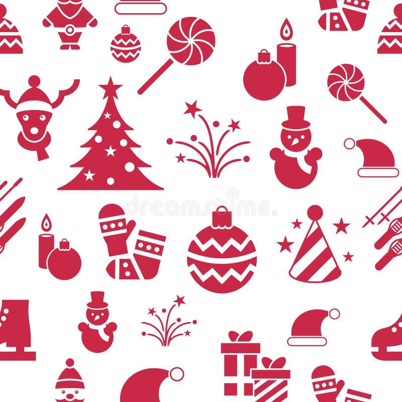 Vacances de Noël de vecteur de Digital et de nouvelle année réglées illustration stock