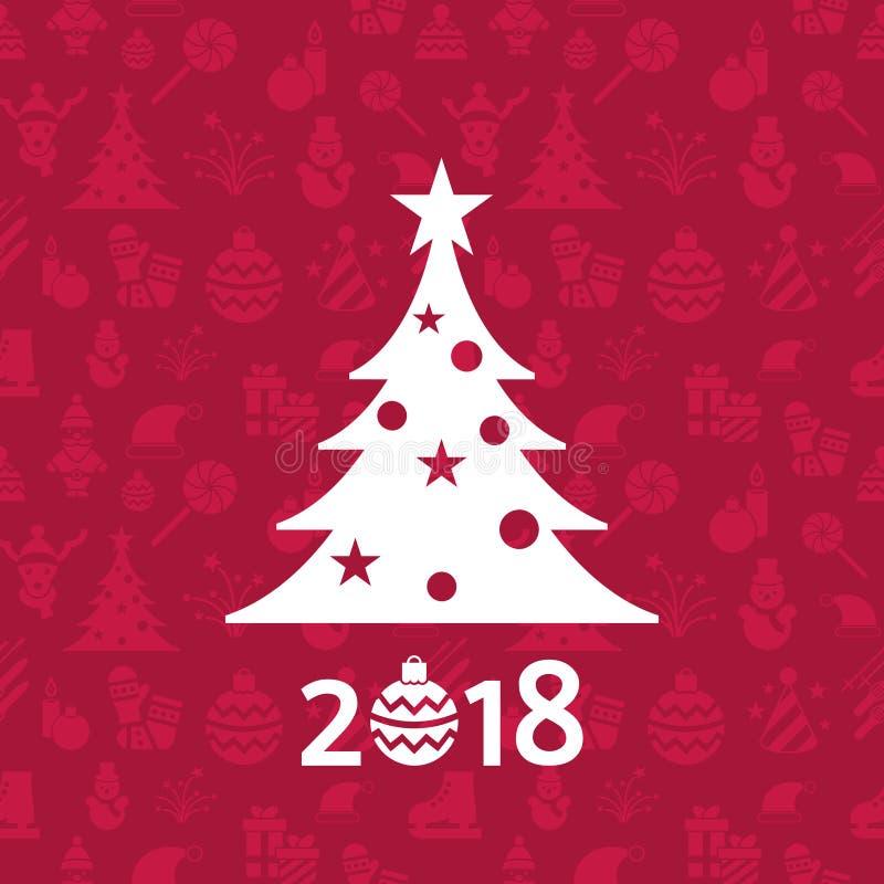 Vacances de Noël de vecteur de Digital et de nouvelle année réglées illustration de vecteur