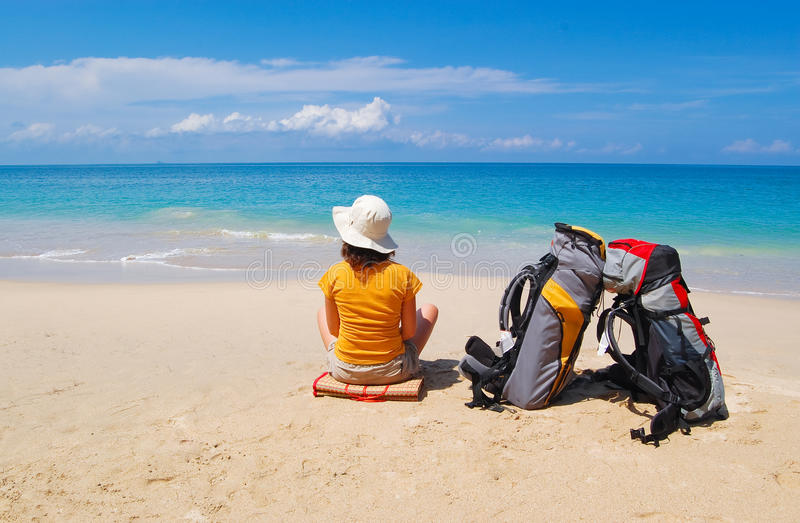Vacances de plage d'été photos stock