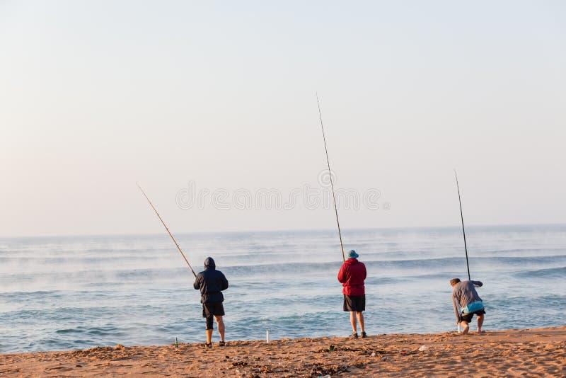 Vacances de plage de pêcheurs photographie stock libre de droits