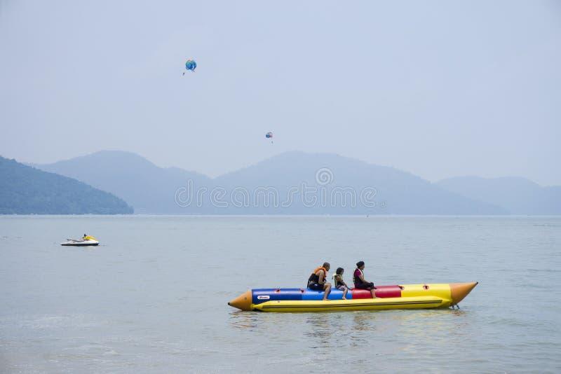 Vacances de plage de Penang Batu Ferringhi en Asie photo stock