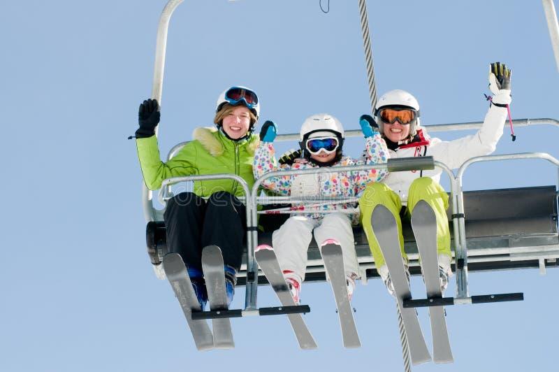 Vacances de ski images libres de droits