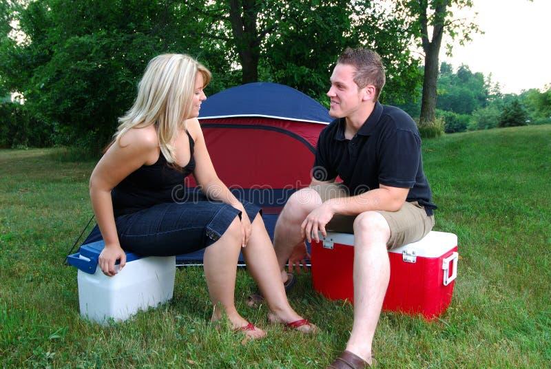 Vacances de tente photographie stock