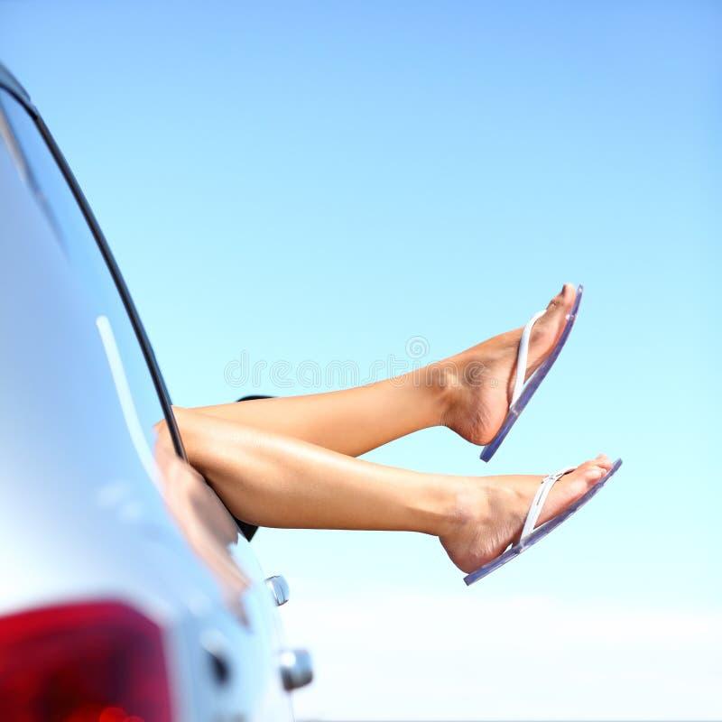 Vacances de véhicule de voyage par la route d'été photos libres de droits