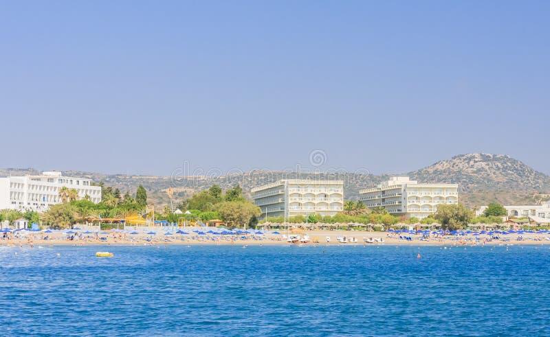 Vacances en mer La station de vacances de Faliraki Île de Rhodes La Grèce photo stock