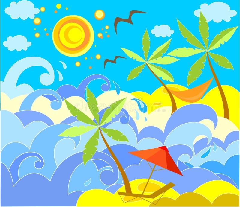 Vacances heureuses illustration stock