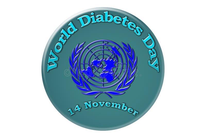 Vacances internationales des Nations Unies, jour de diabète du monde illustration stock