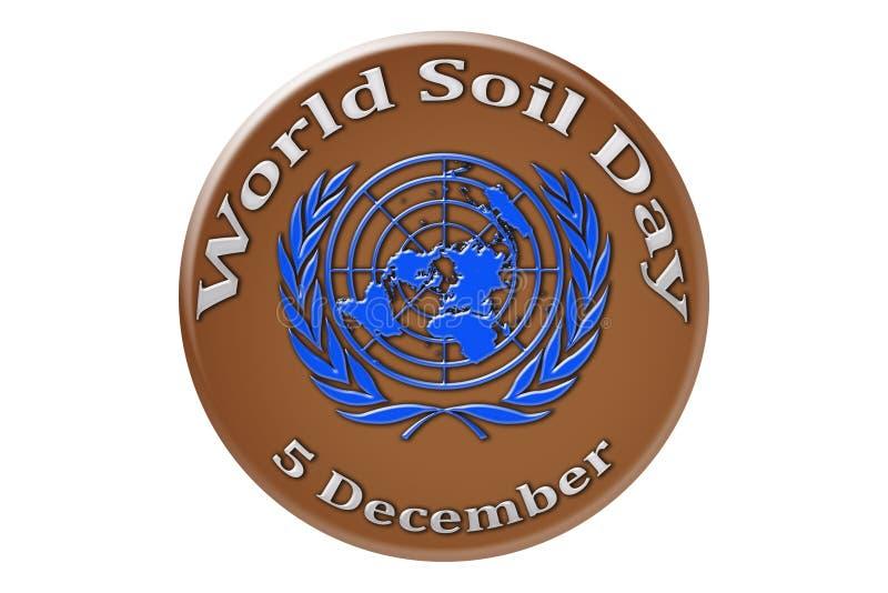 Vacances internationales des Nations Unies, jour de sol du monde illustration de vecteur