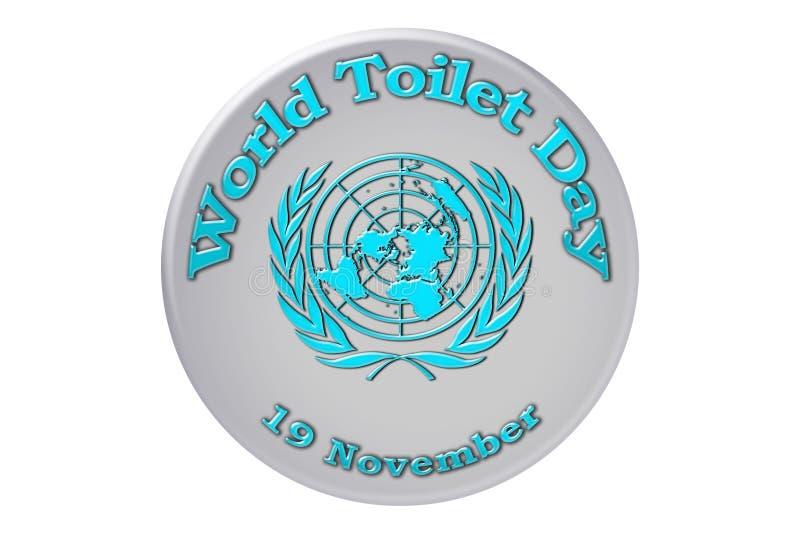 Vacances internationales des Nations Unies, jour de toilette du monde illustration stock