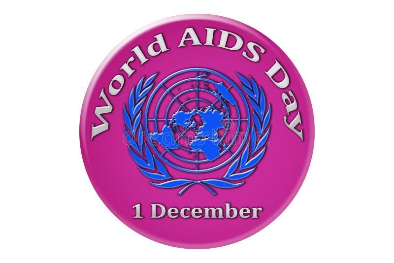Vacances internationales des Nations Unies, Journée mondiale contre le SIDA illustration stock