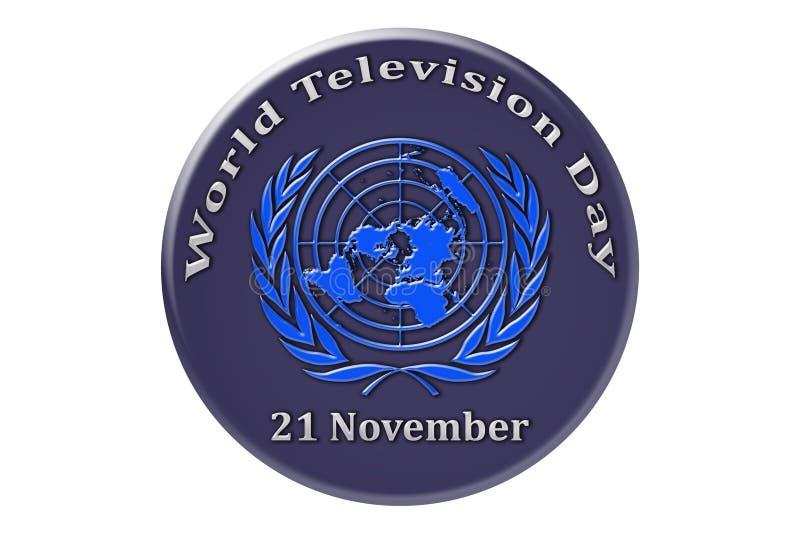 Vacances internationales des Nations Unies, télévision DA du monde illustration stock
