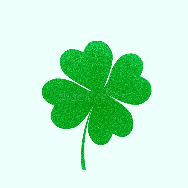 Vacances irlandaises Trèfle de feuilles du jour 4 de patricks de saint Illustration de vecteur illustration stock