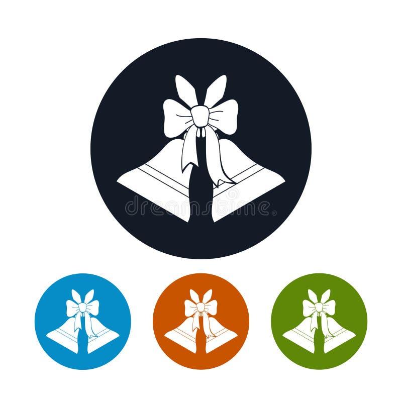 Vacances Jingle Bells d'icônes illustration stock
