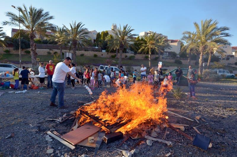 Vacances juives de BaOmer de retard photographie stock