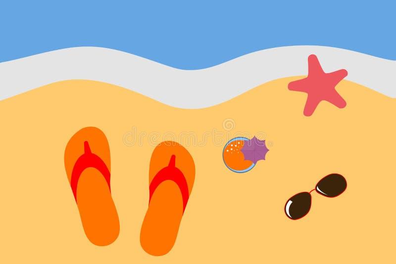 Vacances par la mer illustration stock