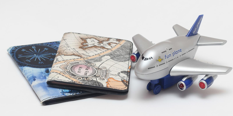 Vacances passeport étranger, avion photographie stock libre de droits