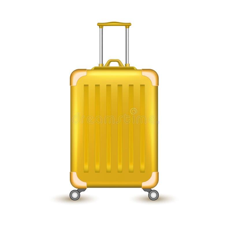 Vacances réalistes de sac de valise de voyage de vecteur illustration libre de droits