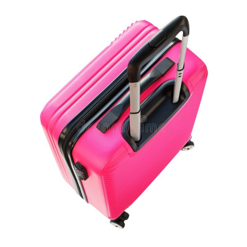 Vacances roses de concept de voyage de bagage d'été de tronc images libres de droits