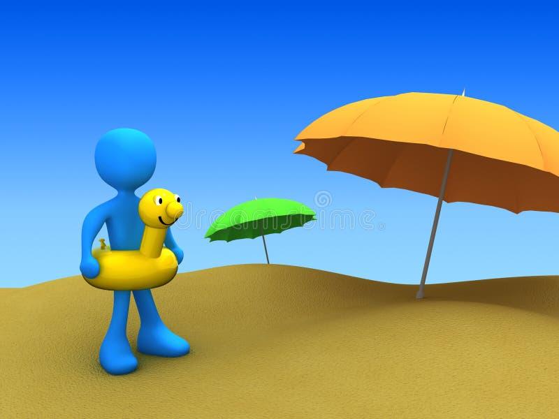 Vacances sur la plage illustration de vecteur