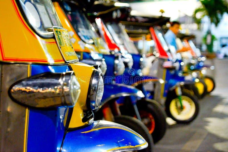 Vacances thaïlandaises de tuktuk de transport images libres de droits