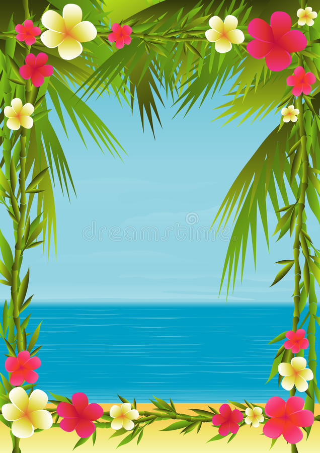 Vacances tropicales illustration de vecteur