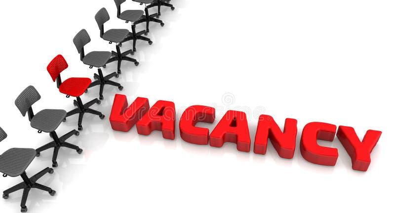 vacancy Concept illustration stock